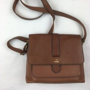 Fossil Womens Crossbody Brown Leather Purse NWOT